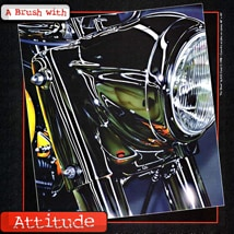 A Brush With Attitude Iwata Eclipse Ad featuring AA.D.Cook motorcycle art (preview)