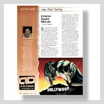 A.D. Cook Hollywood Video Supermurals in Airbrush Magazine