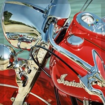 Motorcycle paintings and lifestyle art