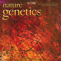 Nature Genetics Magazine Cover featuring A.D. Cook abstract art, 2010 (preview)