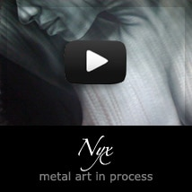 Nyx metal art nude by A.D. Cook Video