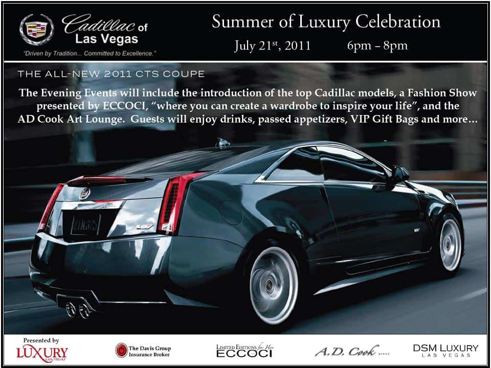 A.D. Cook at DSM Summer of Luxury at Cadillac of Las Vegas