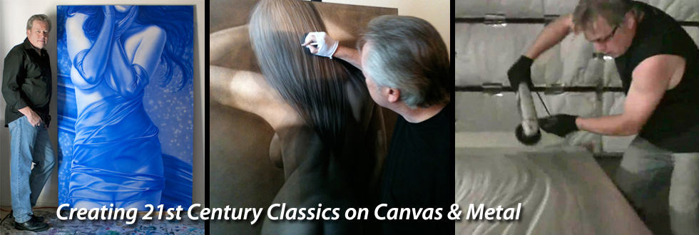 Artist A.D. Cook, Creating 21st Century Classics on Canvas & Metal