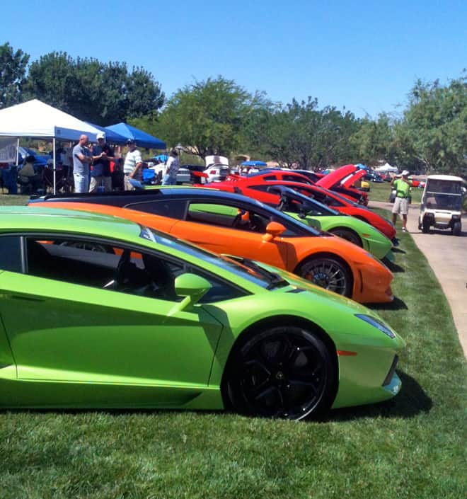 Lamborghinis at Father's Day Car Show, Henderson, NV 2012