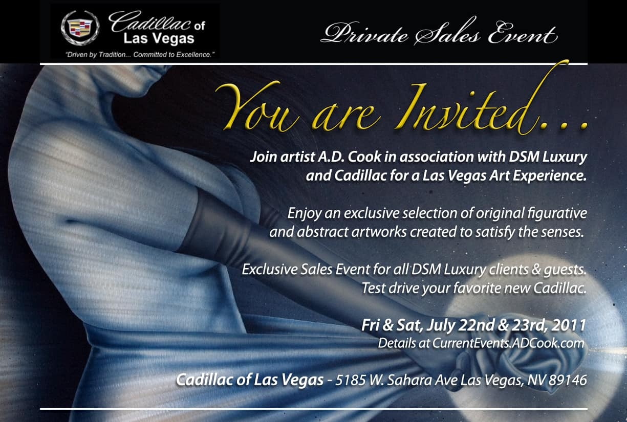 Artist A.D. Cook Cadillac of Las Vegas Private Sales Event, july 2011