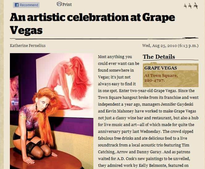 BACKDRAFT by A.D. Cook at Grape Vegas, Las Vegas 2010