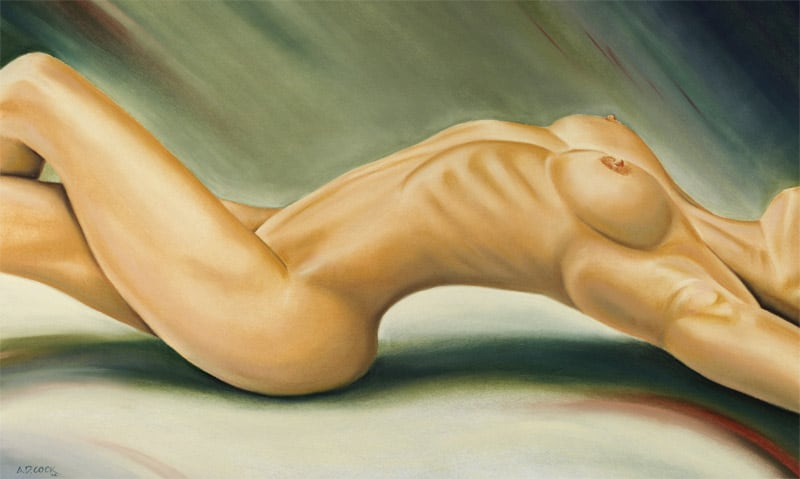 FERMATA pastel art nude by A.D. Cook, 2002