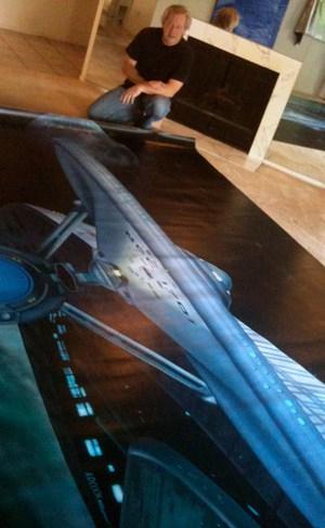 Star Trek Enterprise Hollywood Video mural by A.D. Cook
