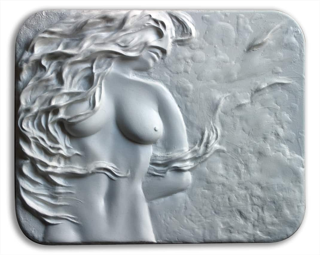 GAIA relief sculpture by A.D. Cook, 2012