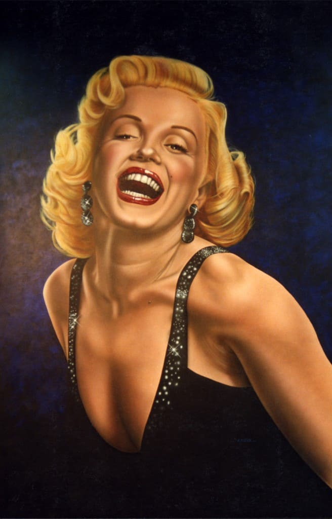 Marilyn Monroe Hollywood Video wall mural by A.D. Cook, 1993
