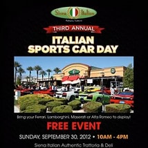 3rd Italian Sports Car Day at Siena Italian Las Vegas 2012 Flyer (preview)