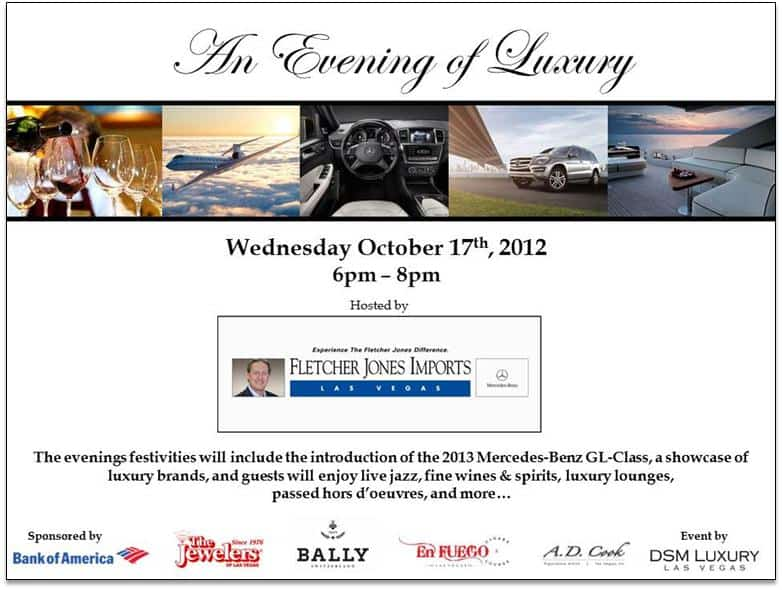 An Evening of Luxury DSM Mercedes Mixer at Fletcher Jones Imports 10/17/12