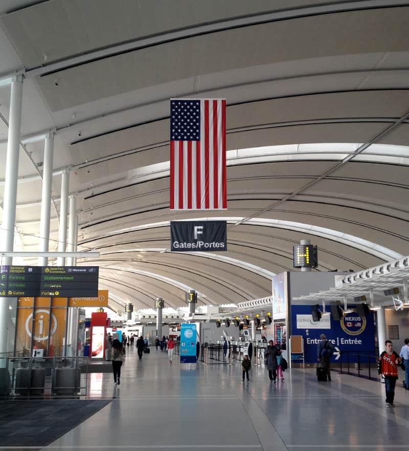 Toronto Pearson International Airport, Toronto, Canada - US Flag 2013