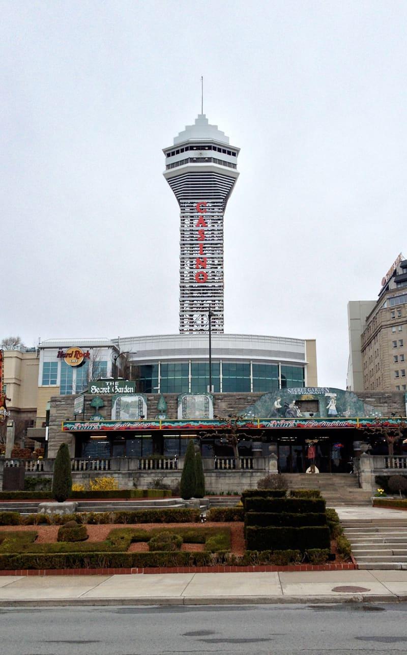 Hard Rock CasinoTower at Niagara Falls, Canada 2013.