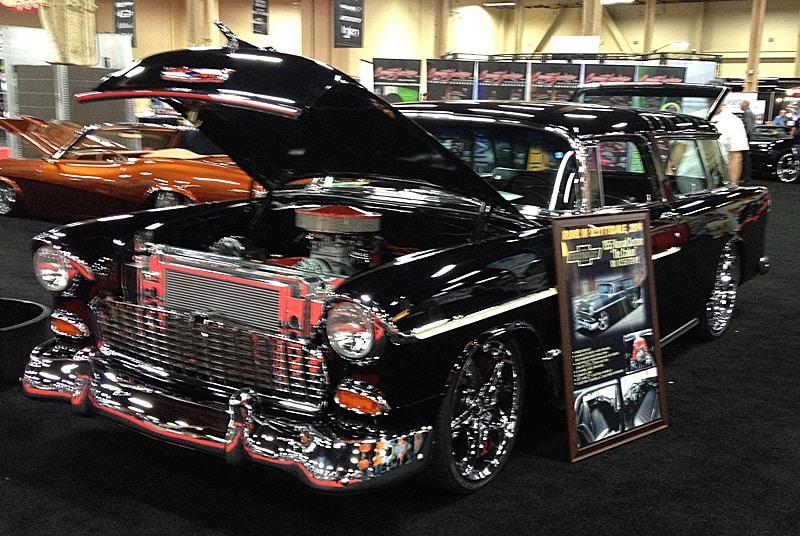 55 Chevy Nomad at Barrett-Jackson, Las Vegas, NV 2013