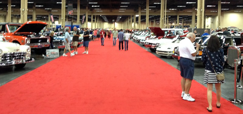 The cars at Barrett-Jackson, Las Vegas, NV