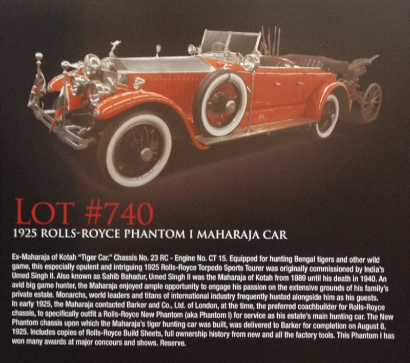 Lot740 - 1925 Rolls Royce Phantom 1 Maharaja at Barrett-Jackson, Las Vegas, NV