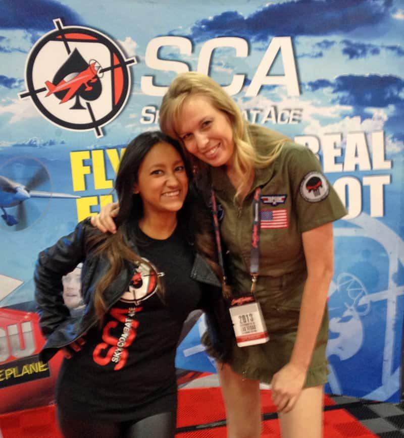 The Sky Combat Ace girls at Barrett-Jackson, Las Vegas, NV