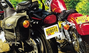 DUET motorcycle painting by A.D. Cook 1999