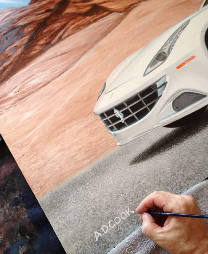 Signing the finished painting - Fast Forward