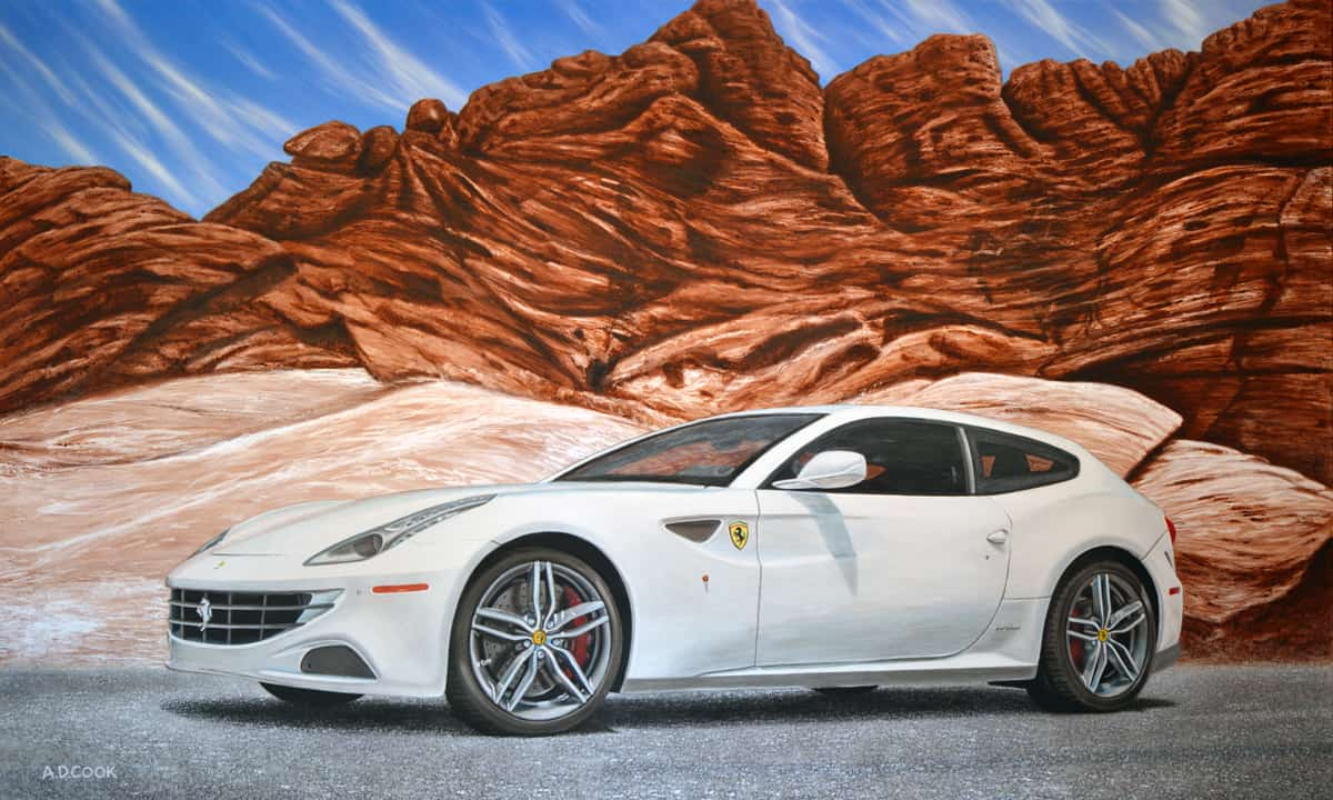 FAST FORWARD Ferrari painting by A.D. Cook, 2013