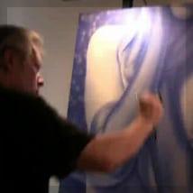 Artist A.D. Cook painting Encore