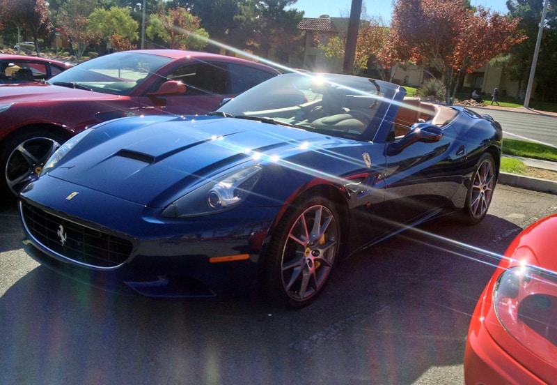 Superb Blue Ferrari 599 At Italian Sports Car Day 2013. Las Vegas, NV.
