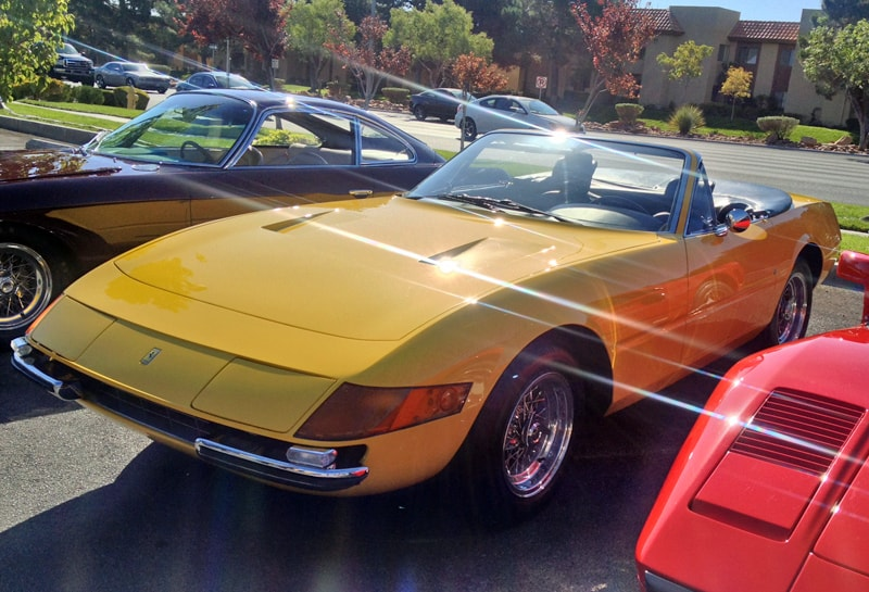Yellow Ferrari Daytona at Italian Sports Car Day 2013. Las Vegas, NV.