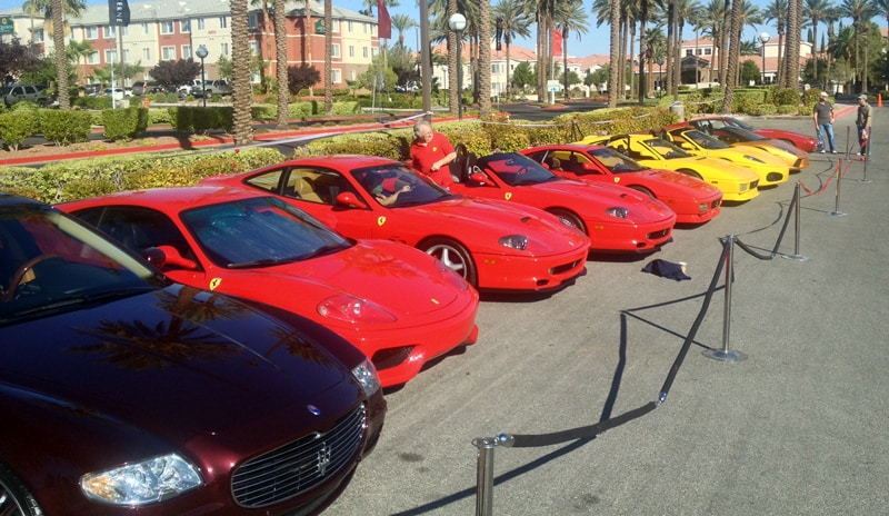 Ferraris at Italian Sports Car Day 2013, Las Vegas, NV.