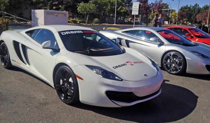White McLaren at Italian Sports Car Day 2013, Las Vegas, NV