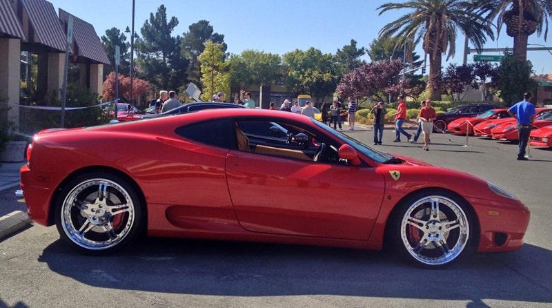 Red Ferrari at Italian Sports Car Day 2013. Las Vegas, NV