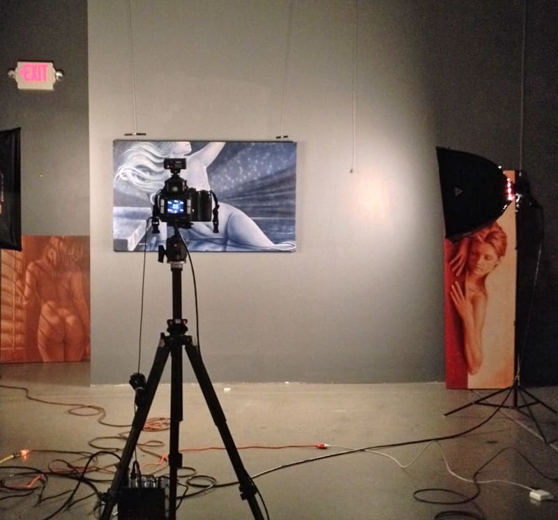 Photgraphing Ascendant and artworks at the gallery