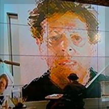 Chuck Close working in studio