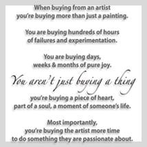 When Buying From An Artist