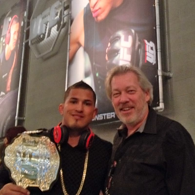 UFC Lightweight Champion Anthony Pettis and A.D. Cook, Las Vegas, NV