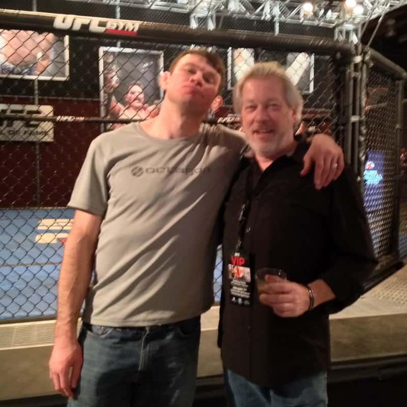 A.D. Cook with legendary UFC fighter Forrest Griffin, Las Vegas, NV