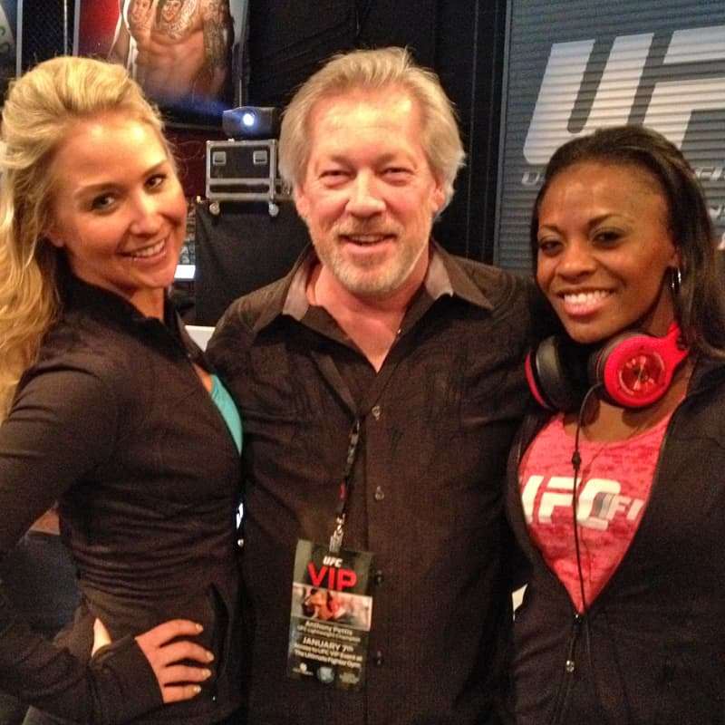 Heather-Leigh Graham, A.D. Cook, Stephanie at the UFC Gym, Las Vegas, NV