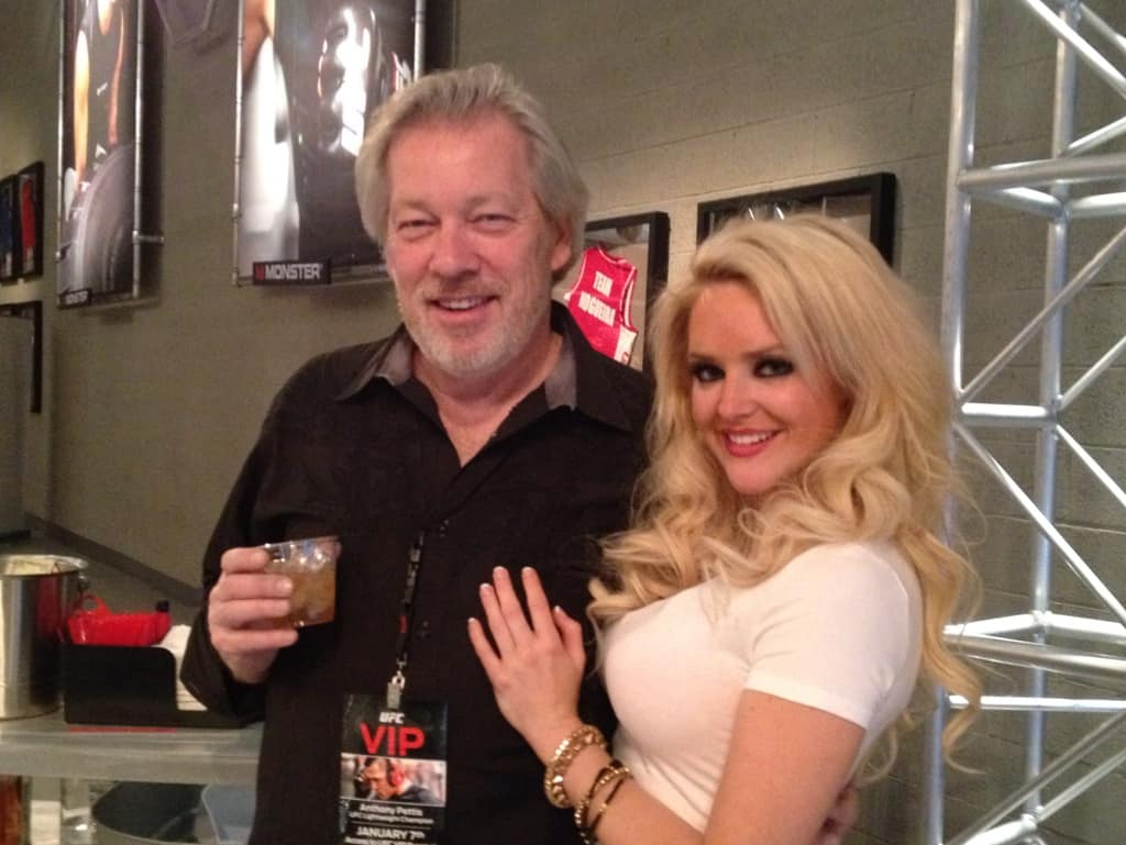 A.D. Cook with Michelle McCoy at the UFC Monster Party, Las Vegas, NV