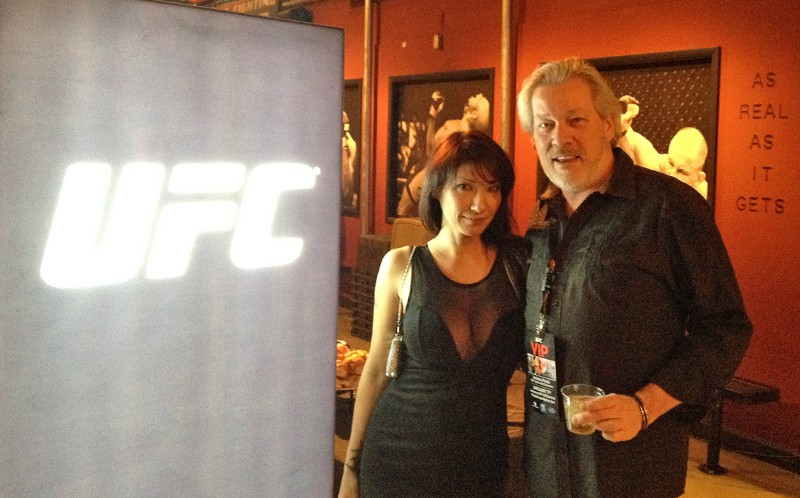 Suzy Friton and A.D. Cook at UFC Mosnster Party, Las Vegas, NV