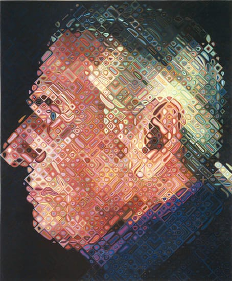 Paul IV painting by Chuck Close