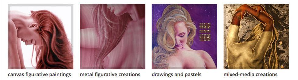 ADCook.com navigaion graphics - figurative art