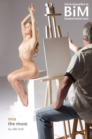 Artist A.D. Cook drawing Mia with BIM