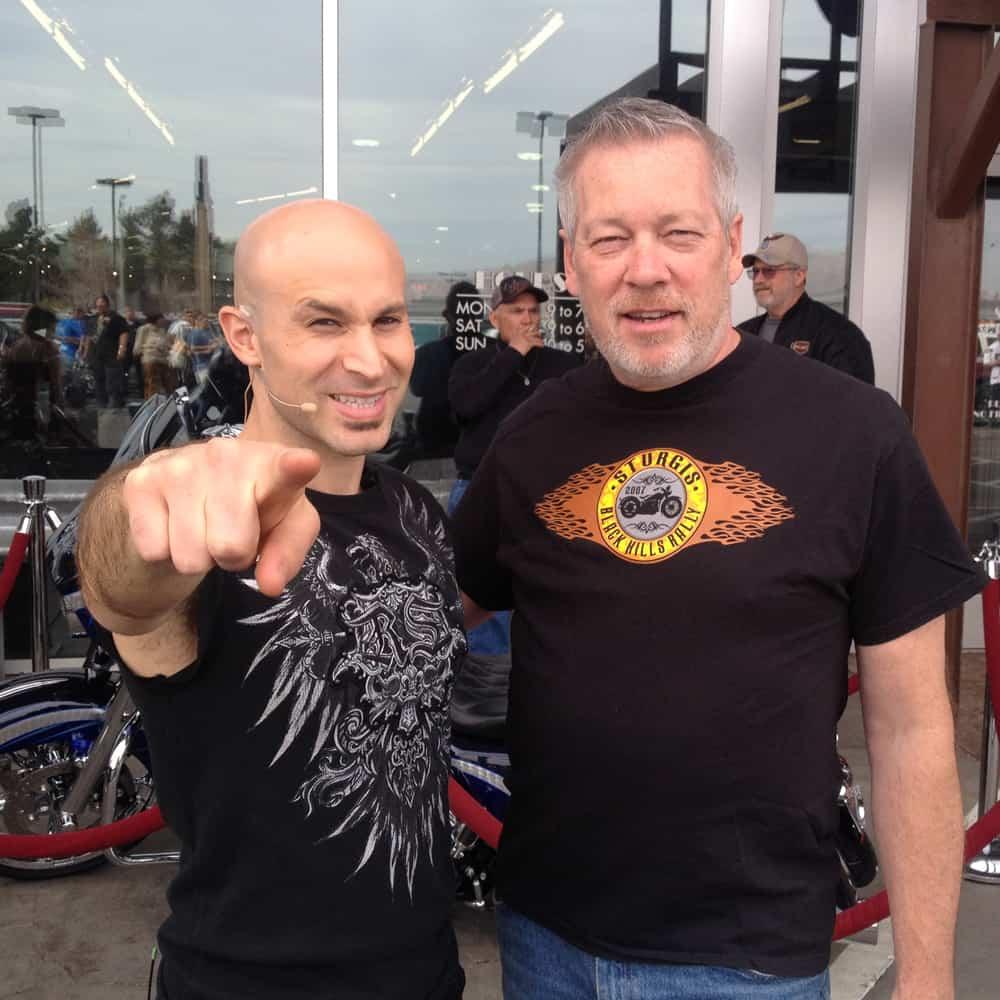 Las Vegas Harley-Davidson — Illusionist Seth Grabel and artist A.D. Cook 02/15/14