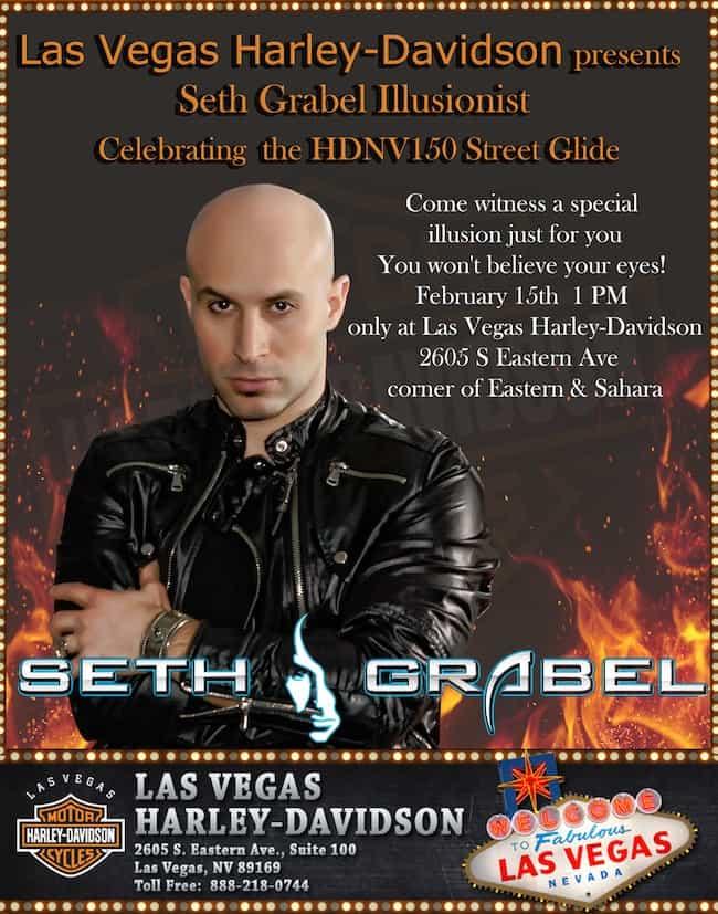 Seth Grabel at Las Vegas Harley-Davidson 2/15/14