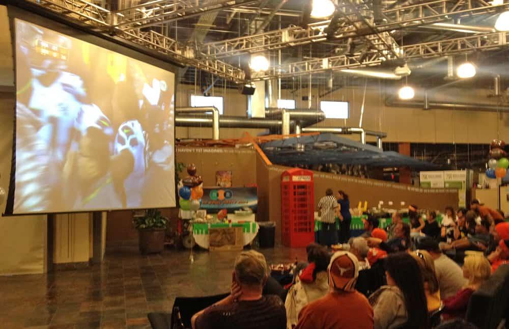 Superbowl XLVIII - game on at R&R Partners, Las Vegas, NV.