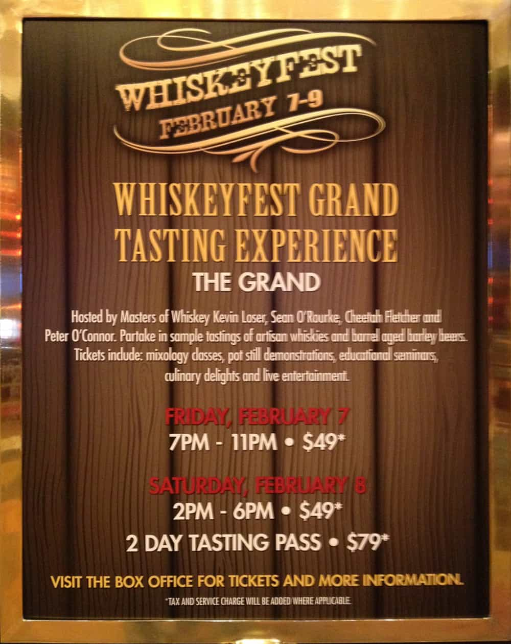WhiskeyFest at the Golden Nugget Grand Ballroon, Las Vegas, 2014