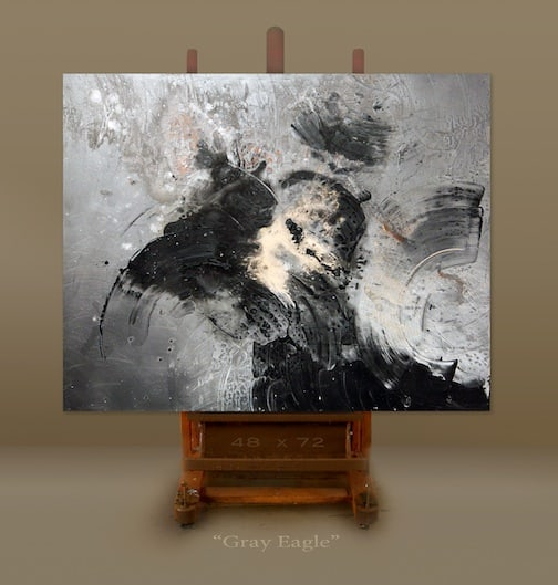 Gray Eagle by Barry Mack, artist