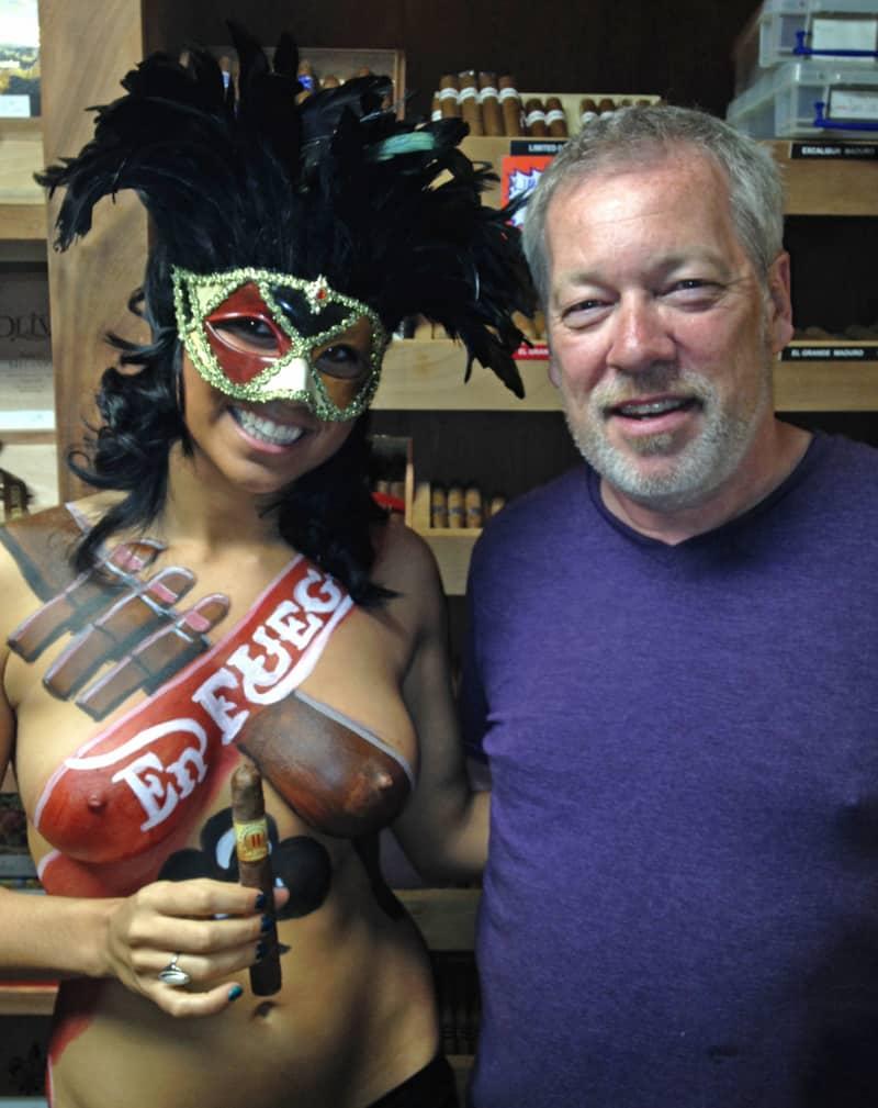 En Fuego - Model Alie and artist A.D. Cook