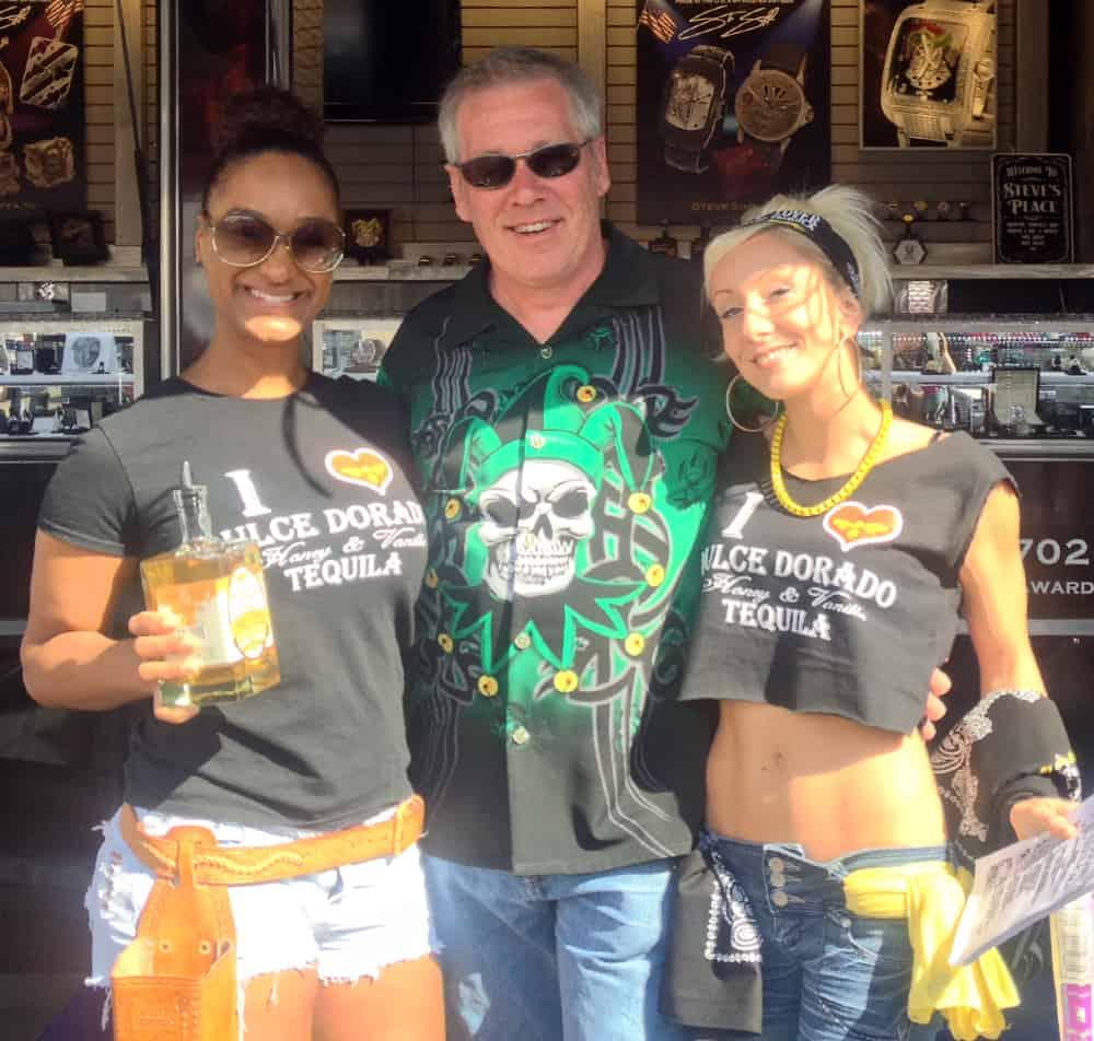 A.D. Cook with the Dulce Dorado Tequila Ladies. AZ Bike Week 2014