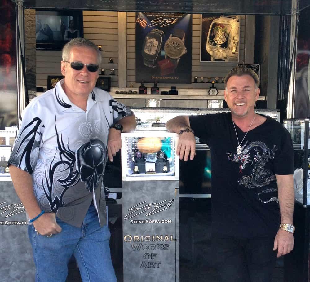 A.D. Cook with Steve-Soffa, Bike Week, Cave Creek, AZ 2014